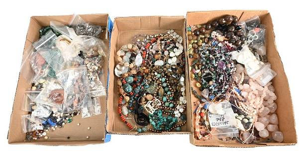 Three Tray Lots of Costume Jewelry, to include
