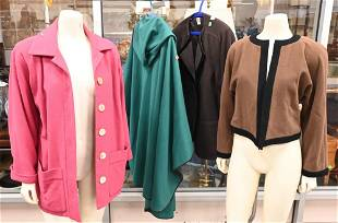 Four Vintage Designer Jackets and Capes, to include a