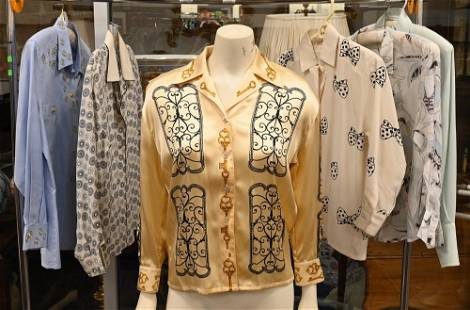 Six Escada Shirts and Blouses, to include one in blue