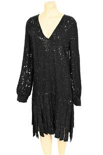 Michael Kors Evening Dress, heavily beaded with