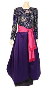 Bob Mackie Boutique Beaded Top Ball Gown, vintage