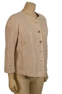 Chanel Evening Jacket, ivory brocade evening jacket