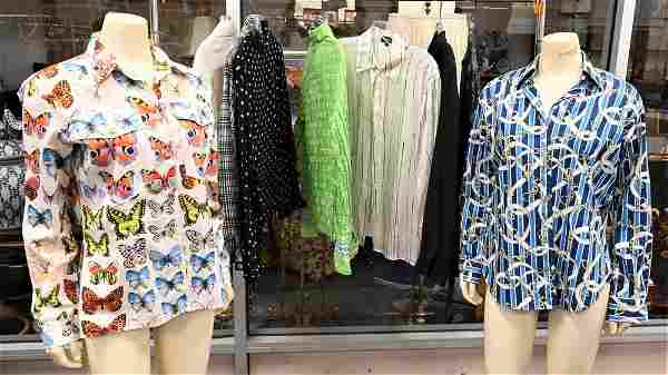 Nine Piece Lot of Designer Blouses and Shirts,