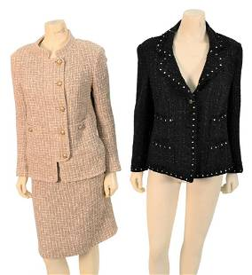 Three Piece Chanel Lot, to include jacket and suit, to