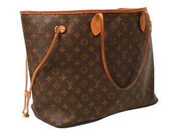 Louis Vuitton Neverfull Bag, monogram canvas and leathe