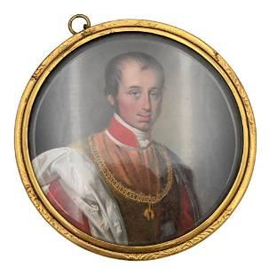 Adalbert Suchy, 1783 - 1849, miniature portrait of
