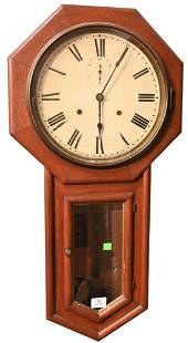 Seth Thomas Schoolhouse Regulator Wall Clock, having