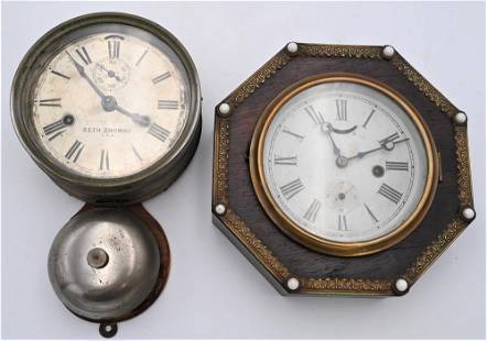 Two Wall Clocks, to include Seth Thomas day lever ships