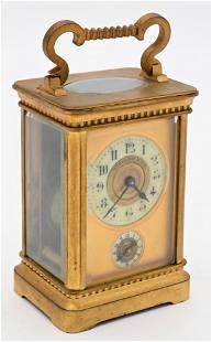 Tiffany & Company French Carriage Clock, having bronze
