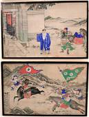 Set of Five Chinese Watercolors on Paper, all having
