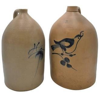 Two Piece Lot, to include five gallon stoneware jug