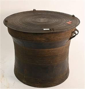 Southeast Asian Bronze Rain Drum Table, having four