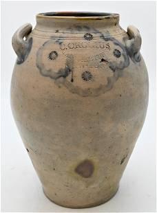 Clarkson Crolius Stoneware Jug, having two mounted