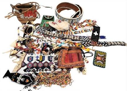 Large Lot of Native American Textiles and Belts