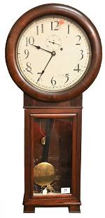 """Seth Thomas #2 Regulator Clock, mahogany case, along"