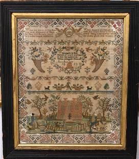 Early 19th Century Needlework Sampler