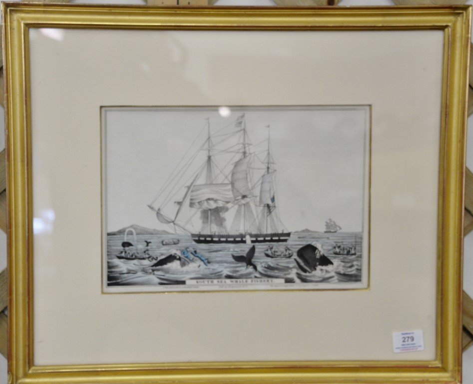Pair of Nathaniel Currier hand colored lithographs