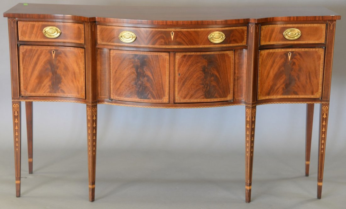 Custom mahogany Federal style sideboard with line