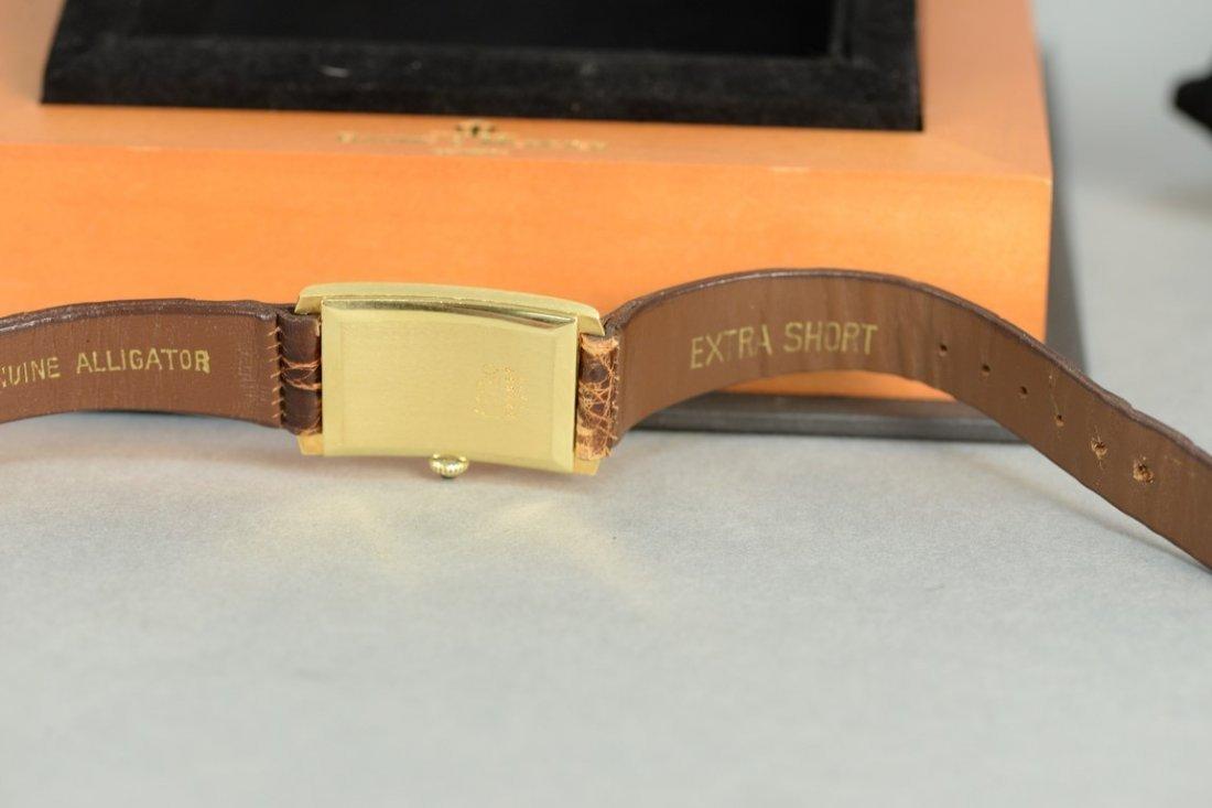 Baume & Mercier 18K rectangular wristwatch with brown - 3