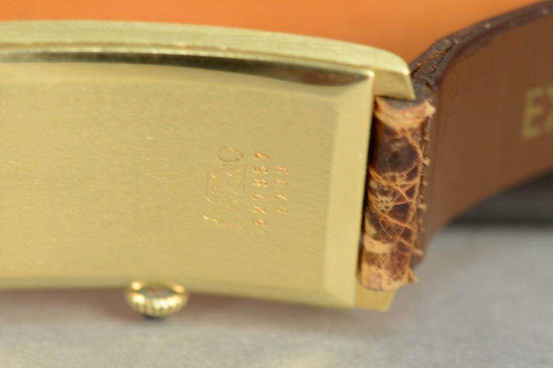 Baume & Mercier 18K rectangular wristwatch with brown - 4