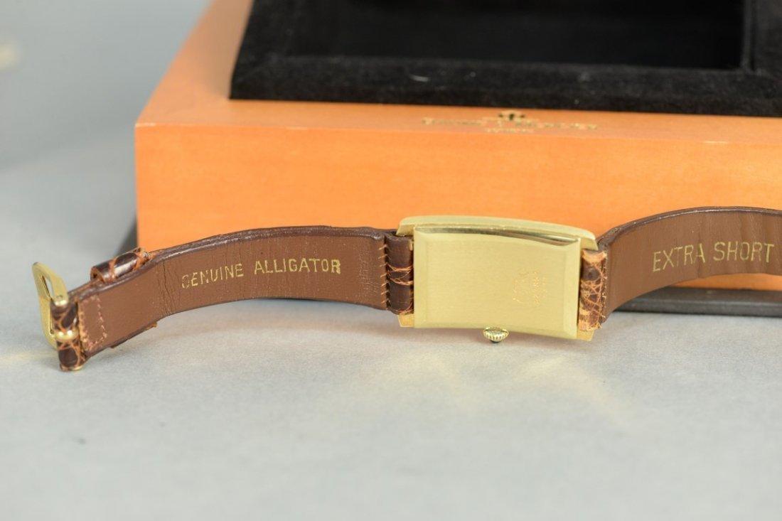 Baume & Mercier 18K rectangular wristwatch with brown - 5