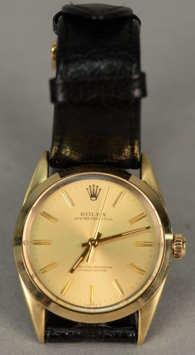 Rolex gold shell over stainless steel Oyster Perpetual