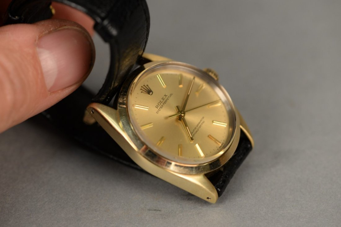 Rolex gold shell over stainless steel Oyster Perpetual - 3