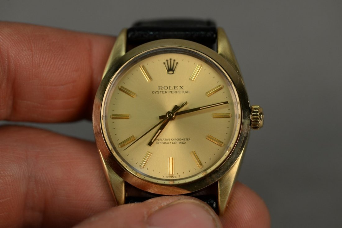 Rolex gold shell over stainless steel Oyster Perpetual - 6
