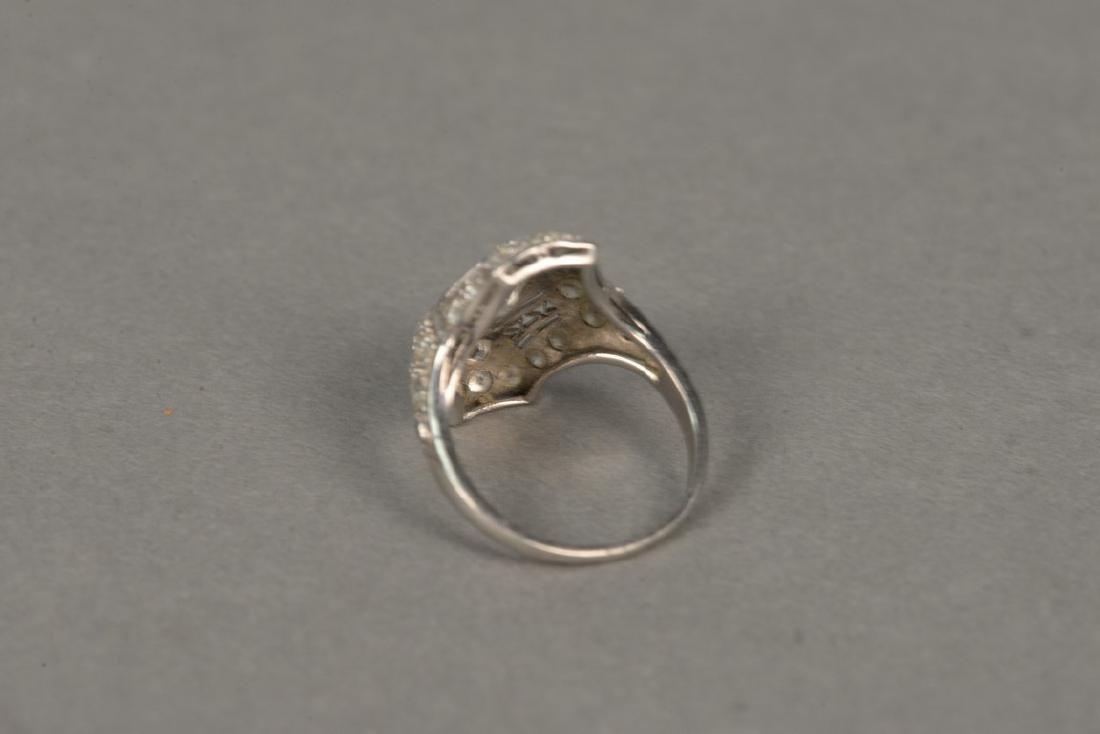 Platinum and diamond ring having center diamond - 8