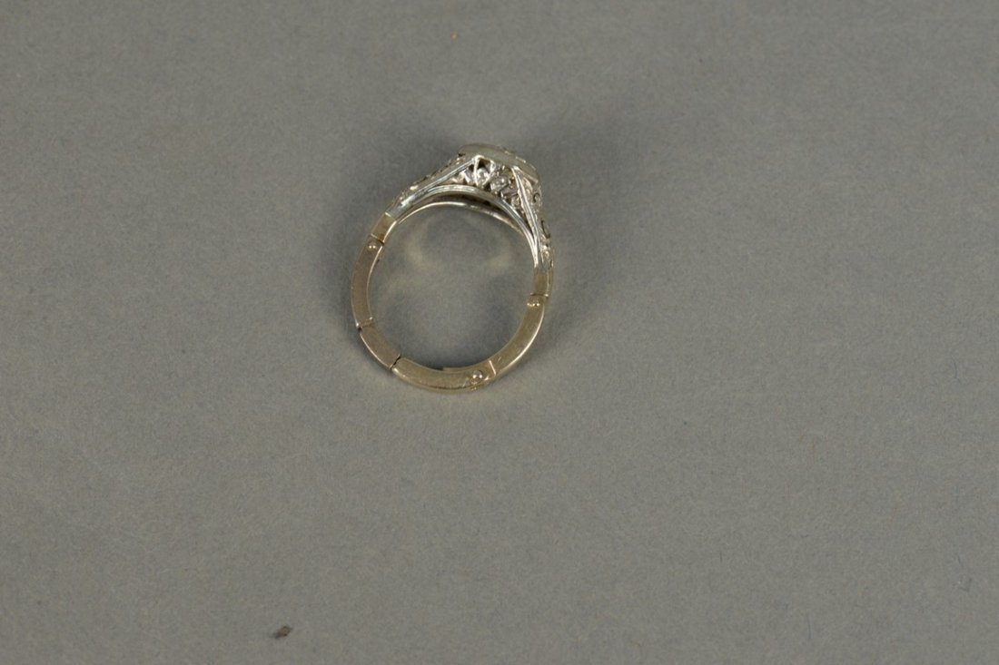 14K gold ring set with center diamond approximately - 3