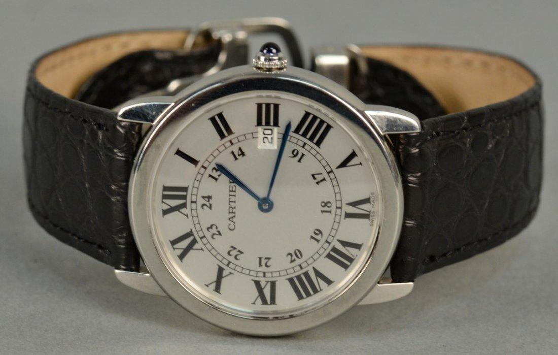 Cartier stainless man's wristwatch with original