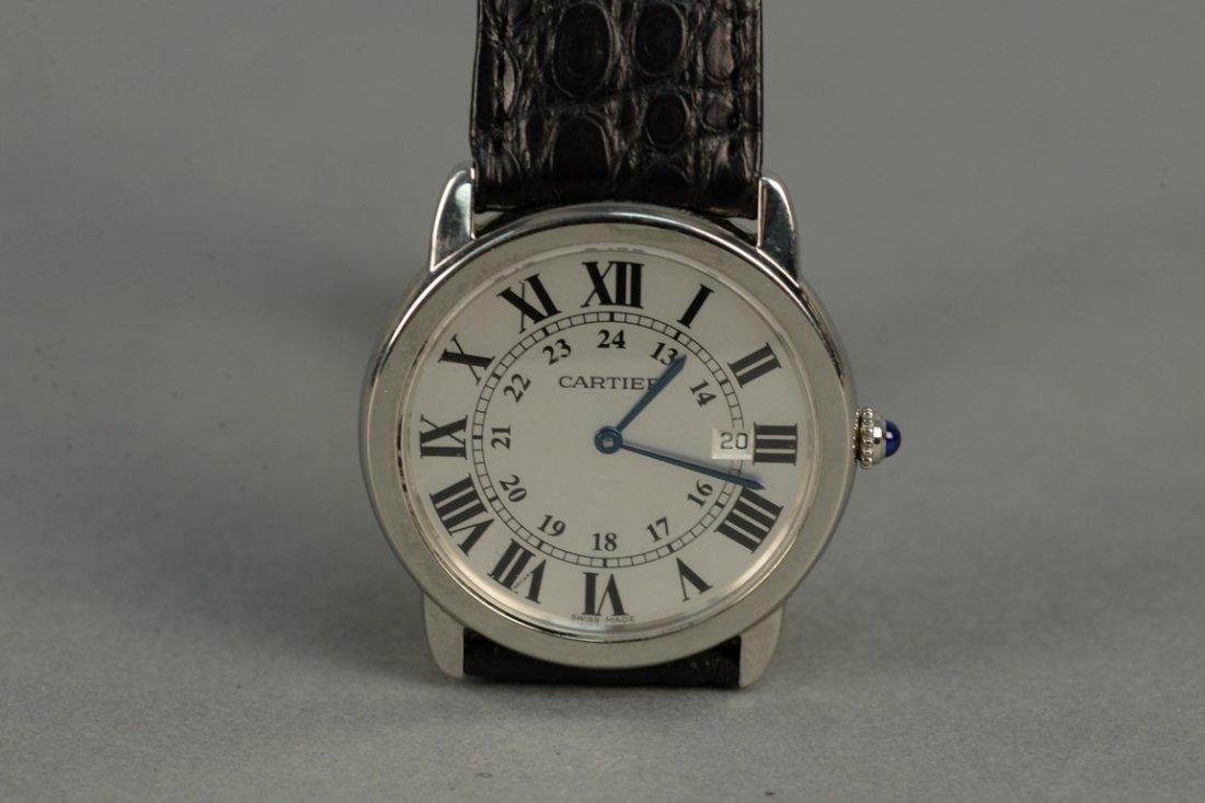 Cartier stainless man's wristwatch with original - 2