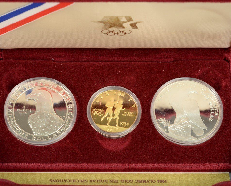1984 Olympic proof gold and silver set including