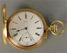 Henry Capt. 18K gold demi chronometer pocket watch with