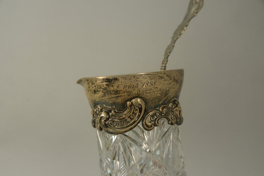 Two piece lot to include cut glass pitcher with - 2