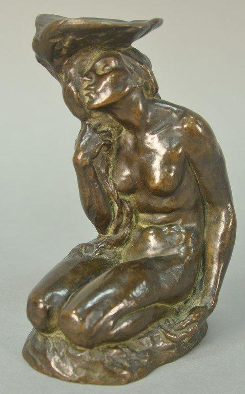 Roman Bronze Works  bronze nude  Woman Kneeling