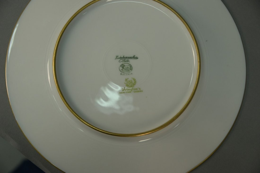 Set of twelve Hutschenreuther Gelb and Bavaria dinner - 2