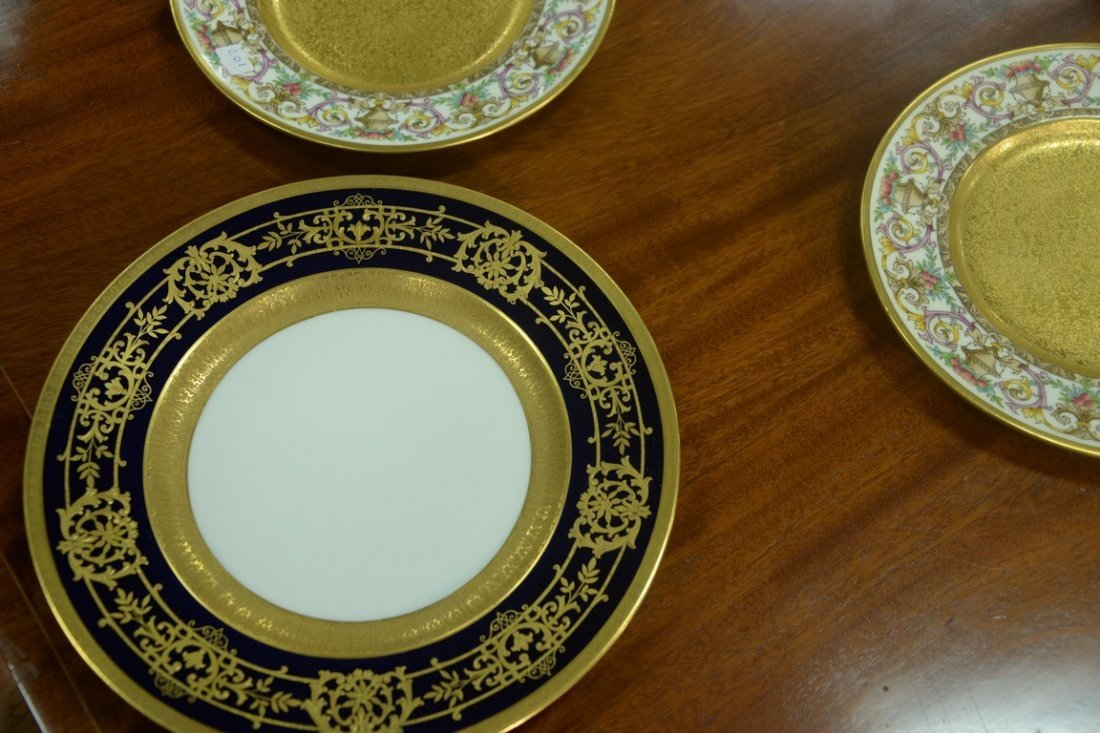 Set of twelve Hutschenreuther Gelb and Bavaria dinner - 4