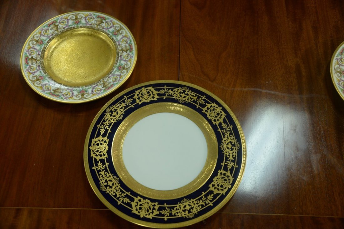 Set of twelve Hutschenreuther Gelb and Bavaria dinner - 5