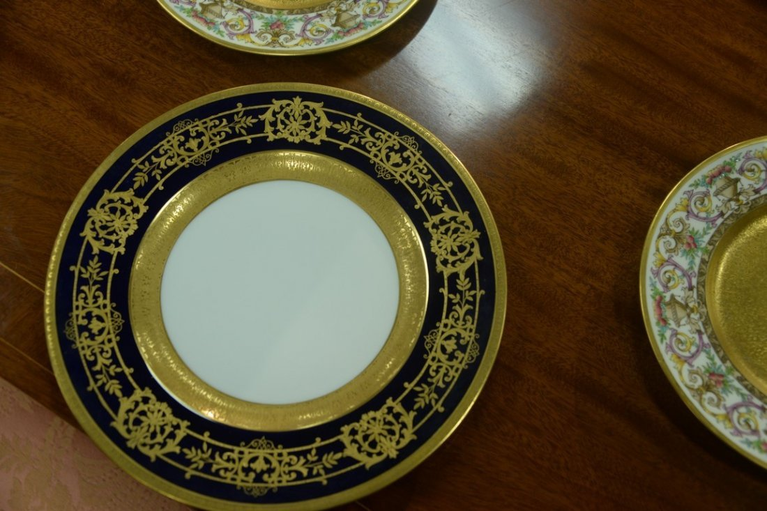 Set of twelve Hutschenreuther Gelb and Bavaria dinner - 8