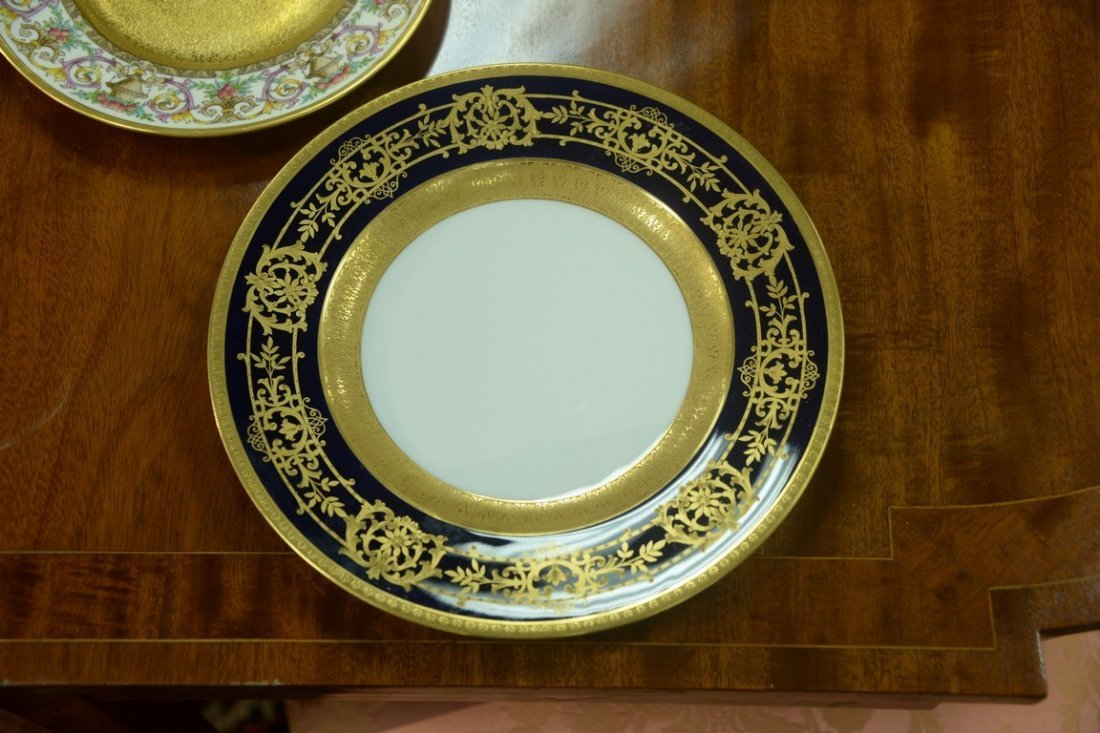 Set of twelve Hutschenreuther Gelb and Bavaria dinner - 9
