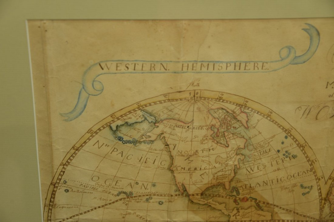 Hand drawn map of the world, Eastern and Western - 2