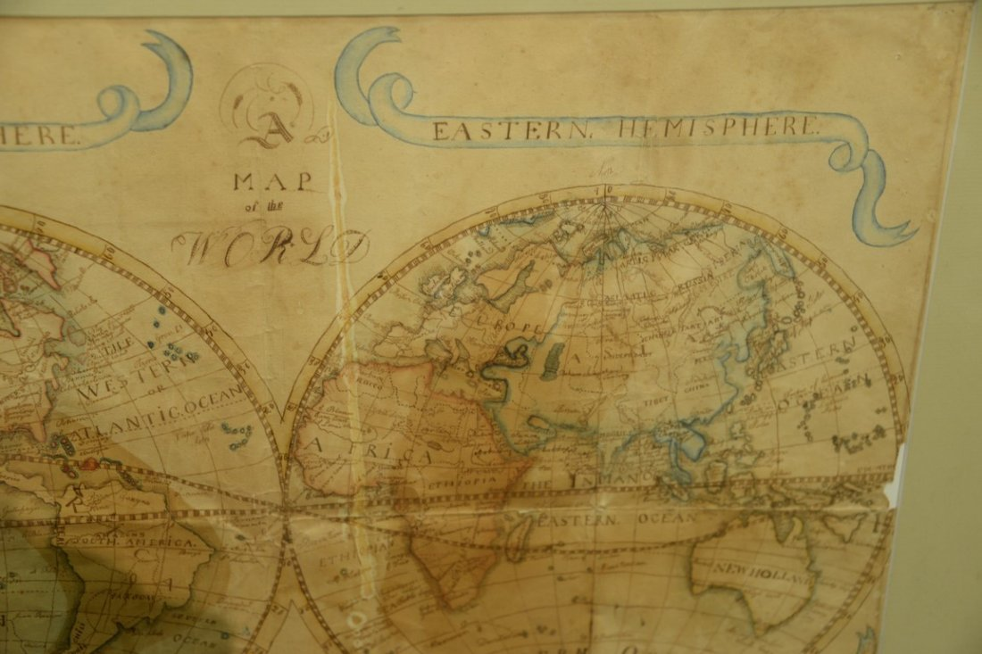 Hand drawn map of the world, Eastern and Western - 3