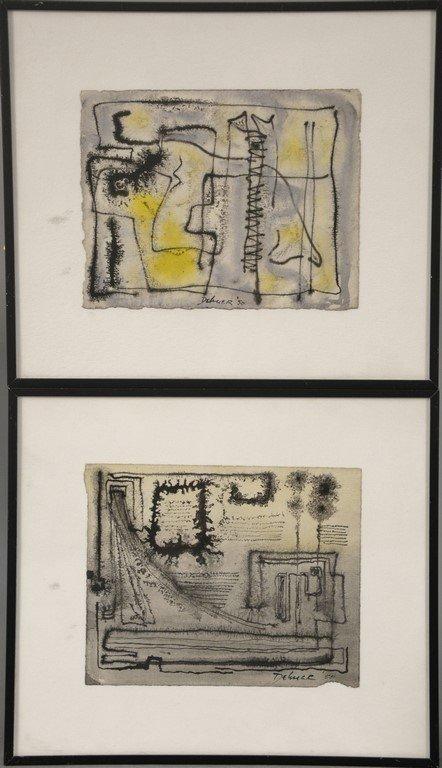 Dorothy Dehner (American, 1901-1994)  two watercolors