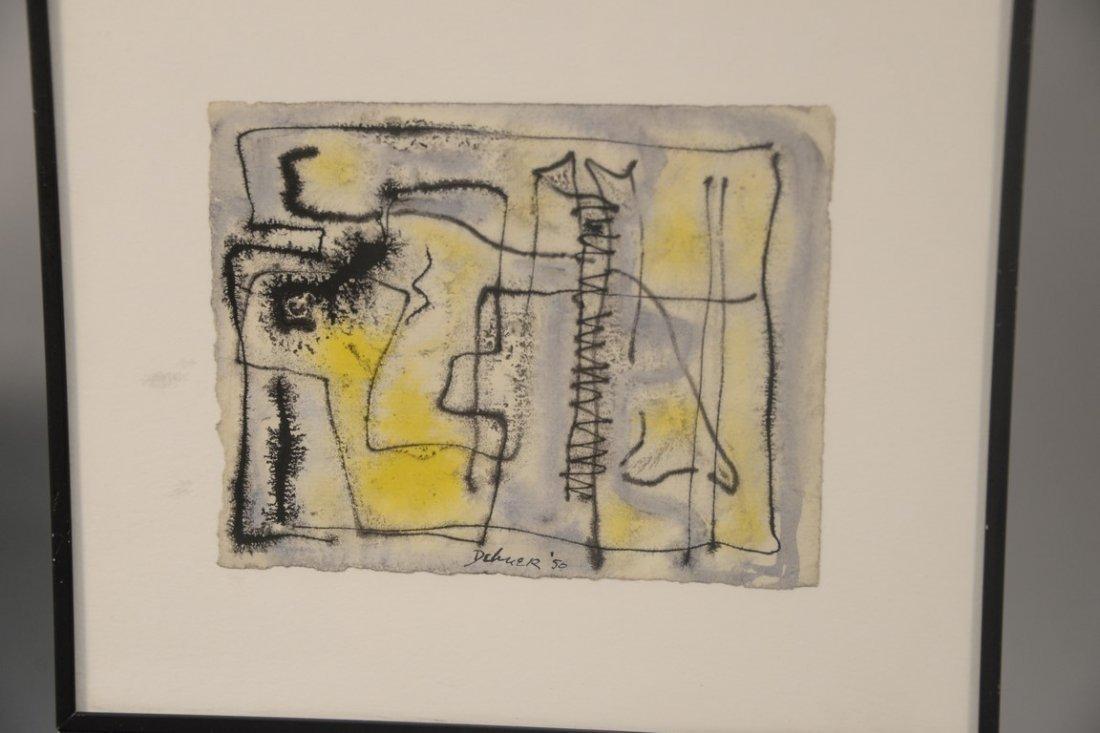 Dorothy Dehner (American, 1901-1994)  two watercolors - 2