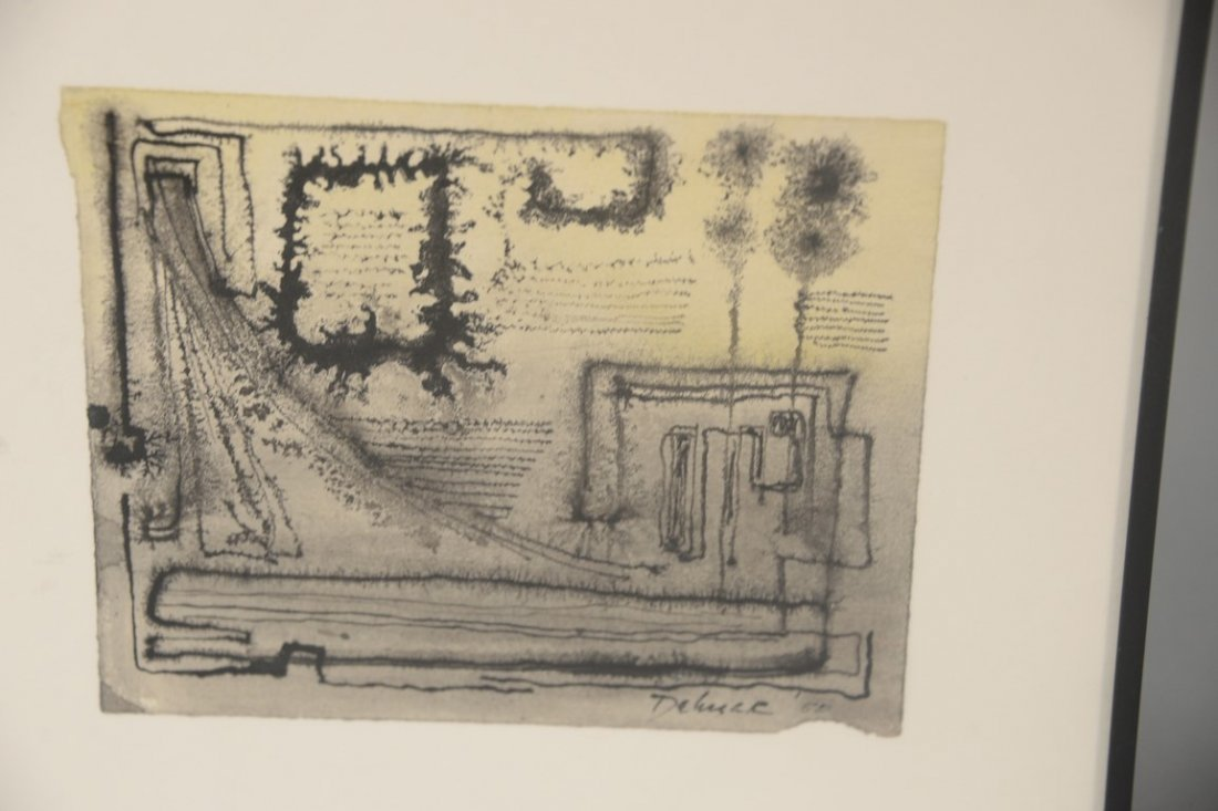 Dorothy Dehner (American, 1901-1994)  two watercolors - 3