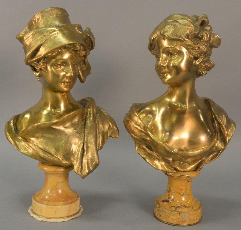 Georges Van der Straeten (1856-1928)  Pair of gilt