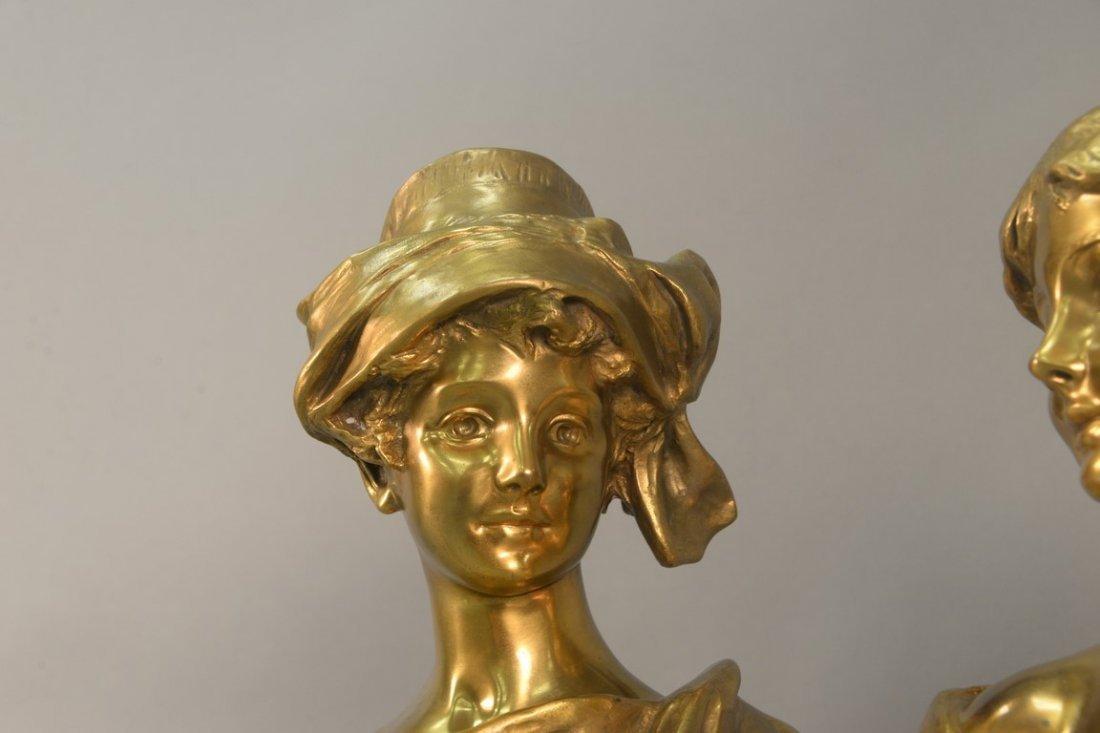 Georges Van der Straeten (1856-1928)  Pair of gilt - 2