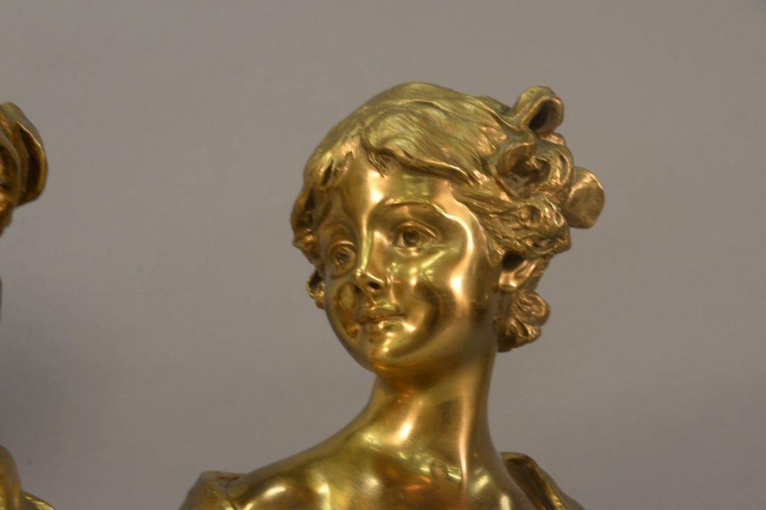 Georges Van der Straeten (1856-1928)  Pair of gilt - 3