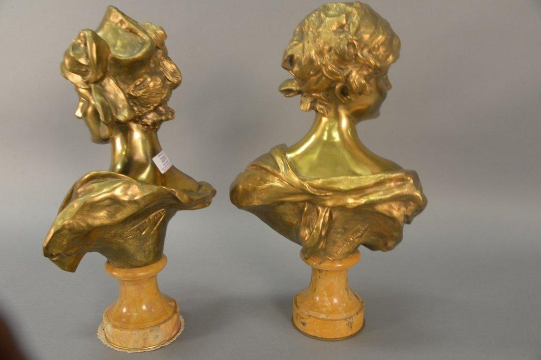 Georges Van der Straeten (1856-1928)  Pair of gilt - 5